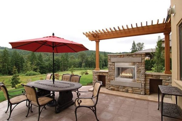 Empire Carol Rose Outdoor Fireplace