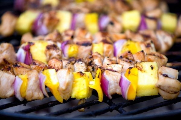 Bacon Wrapped Chicken & Pineapple Kebabs