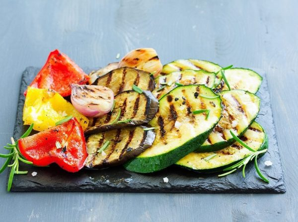 Grilled Zucchini and Onion